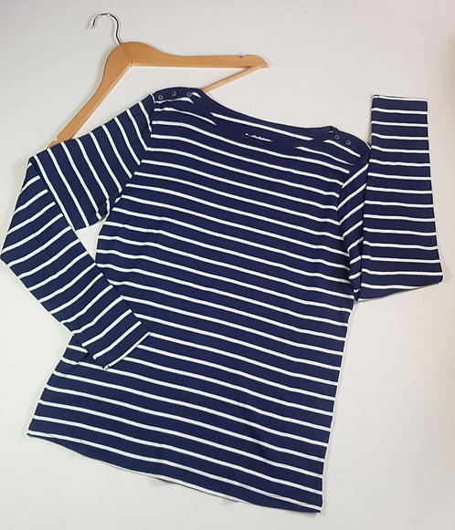 Bhs navy stripe long sleeve top. Size 18 NWOT