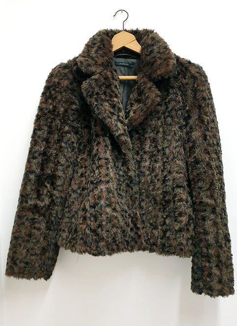 B Young faux fur coat. Size L