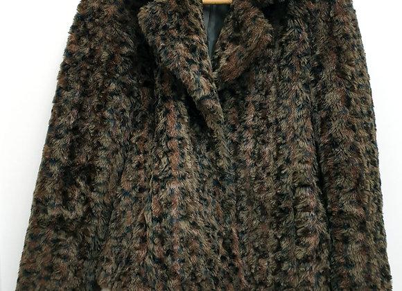 B Young faux fur coat. Size L