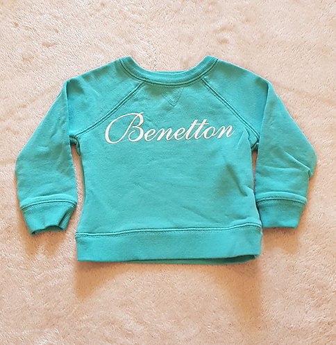 UNITED COLOURS OF BENETTON Sweater with glittery print. 12 months.