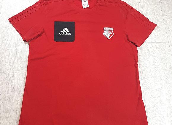 🚩Adidas men's red Watford training T-shirt size Large