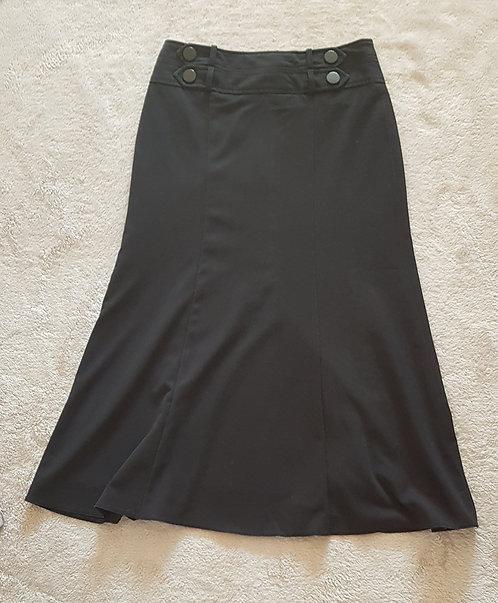 PETITE COLLECTION DEBENHAMS Black calf length skirt. Size 8 pettite