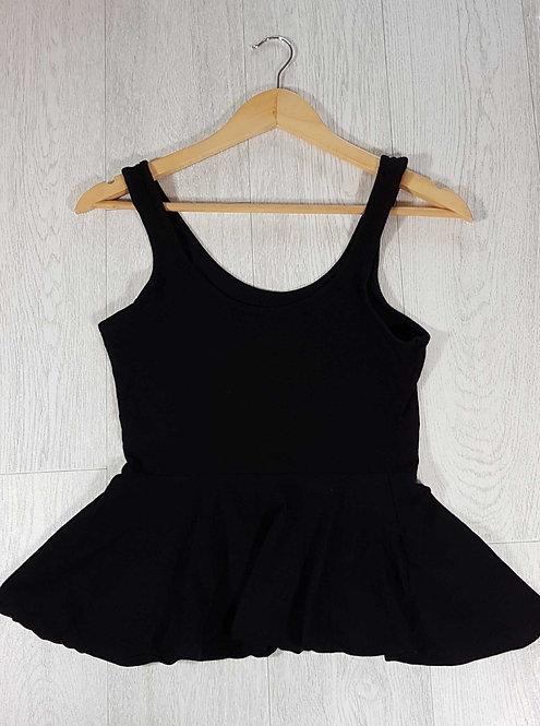 ◾Atmosphere black peplum top. Size 10