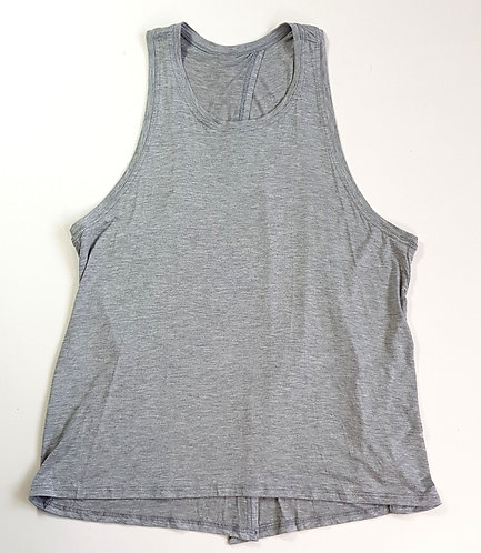 Dhamabums grey open back vest top. Size L