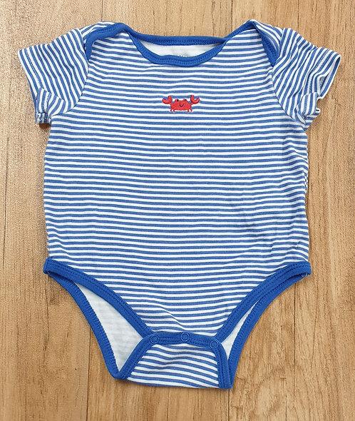 Little Me Blue white vest with crab print. 6m