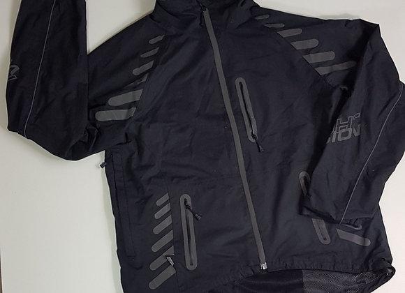Altura black rain jacket with reflective pattern. Size L