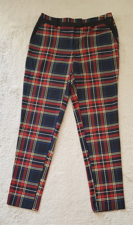RIVER ISLAND Check trousers. Size 8