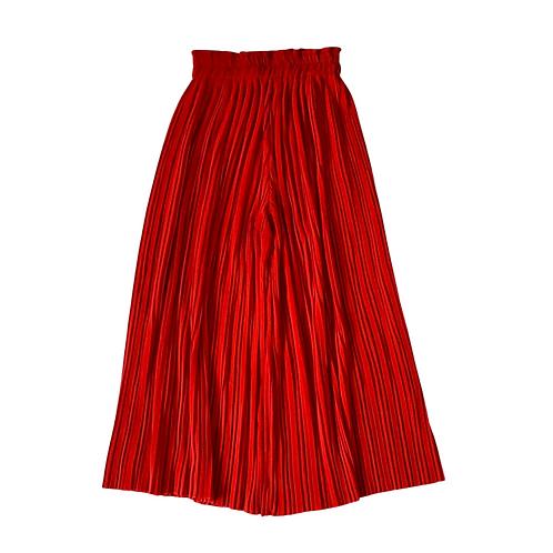Bershka wide leg red trousers. Size S