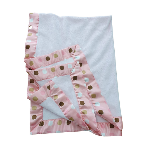 Beansprout pink fleece baby blanket
