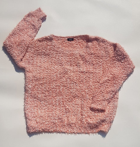 F&F peach fluffy jumper. Size 16