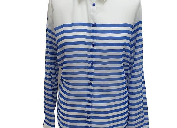 Atmosphere white/blue striped blouse. Uk 14