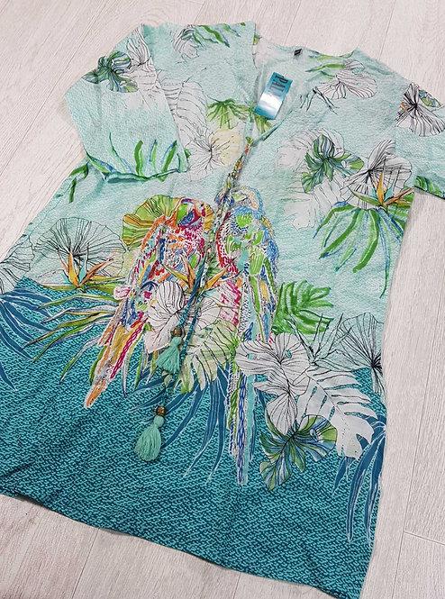Palme bright tunic. S/M NWT