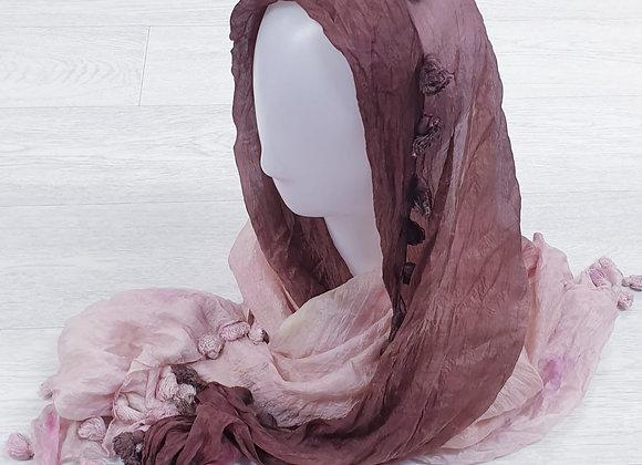 Brown/pink mix scarf