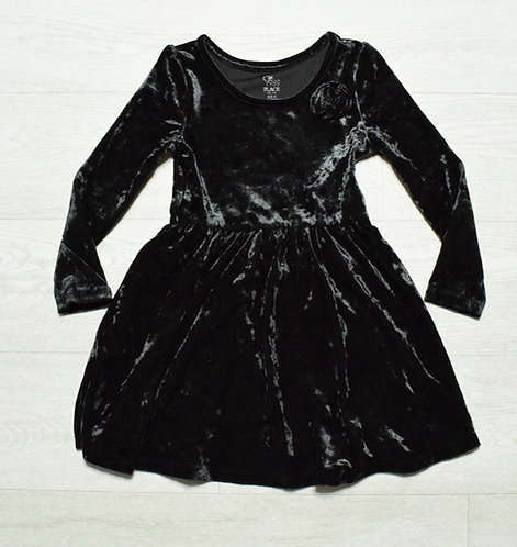 PLACE 1989 black velvet dress. 4yrs