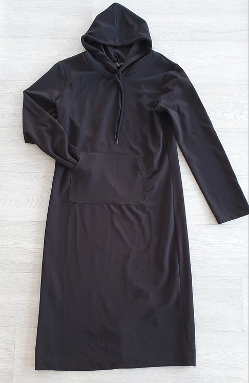 Actuel Black hooded tunic dress.