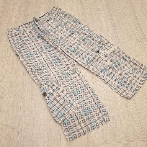 ⚽️Urban Outlaws white/blue check long shorts. 12-13yrs
