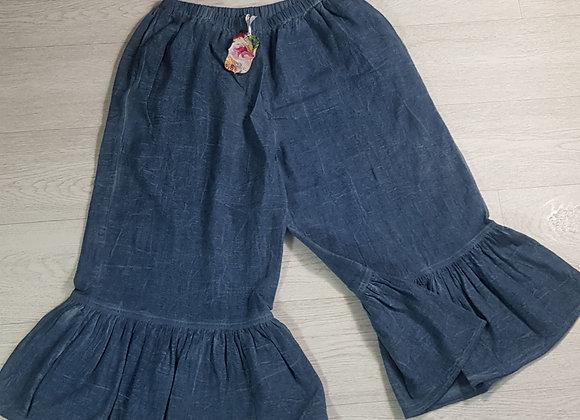 April Cornell denim look pantaloon trousers. Size Small