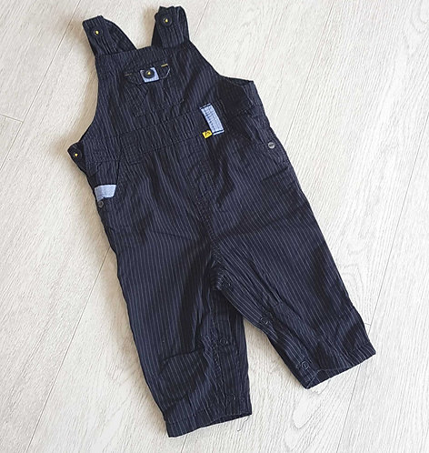🔶️M&S boys striped dungarees with pocket detail size 3-6 months