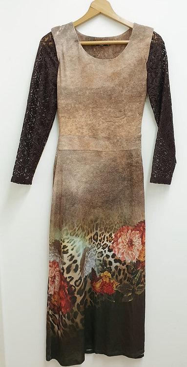 A9 brown mix dress. Eu 40