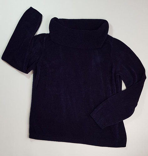 M&S navy chenille rolle neck sweater. Size 18