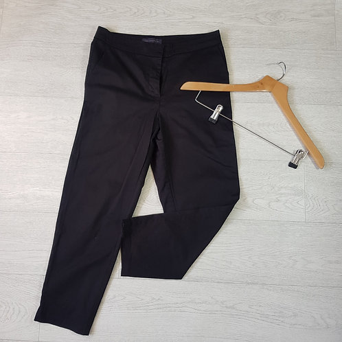 M&S black chino style trousers. Size 10 short
