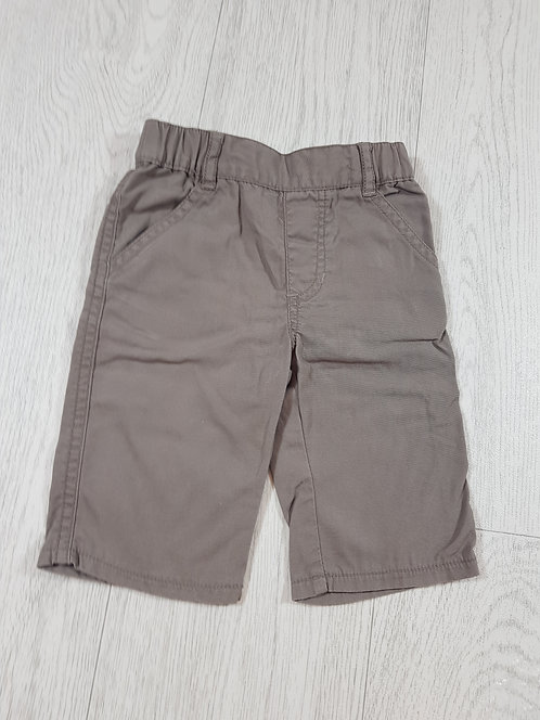 🌈M&Co baby boys Brown stretchy waist trousers with pockets size up to 3 months