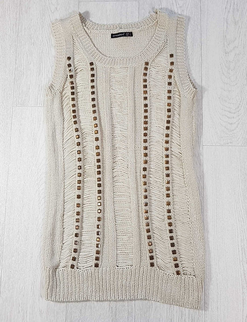 ◾Atmosphere cream knit tunic. Size 12