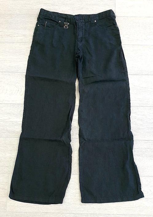 Armani Jeans black linen trousers. Size 12 (29)