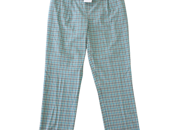 Alice Collins turquoise check trousers. Uk 16 NWT