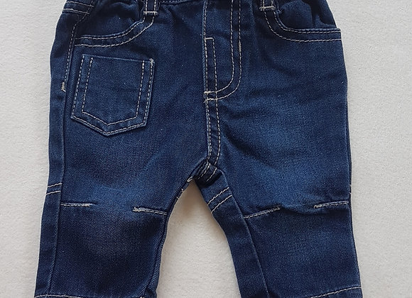 EARLY DAYS. Denim trousers. Size Newborn. Keep away from fire.