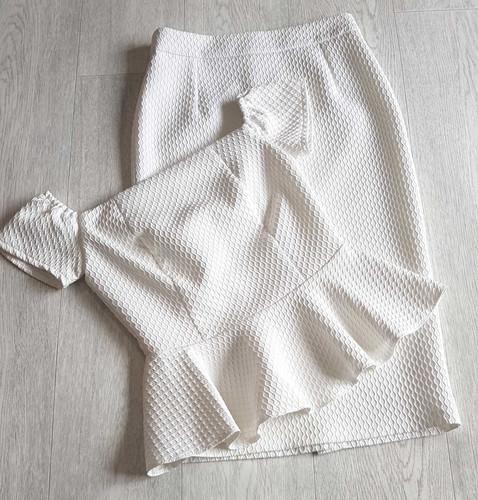 02dd8a24e6c Miss Selfridge off white skirt and top set. Size 6