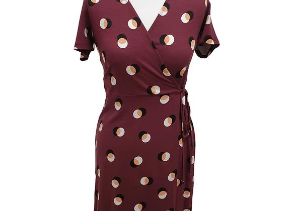 F&F burgundy wrap dress. Uk 8