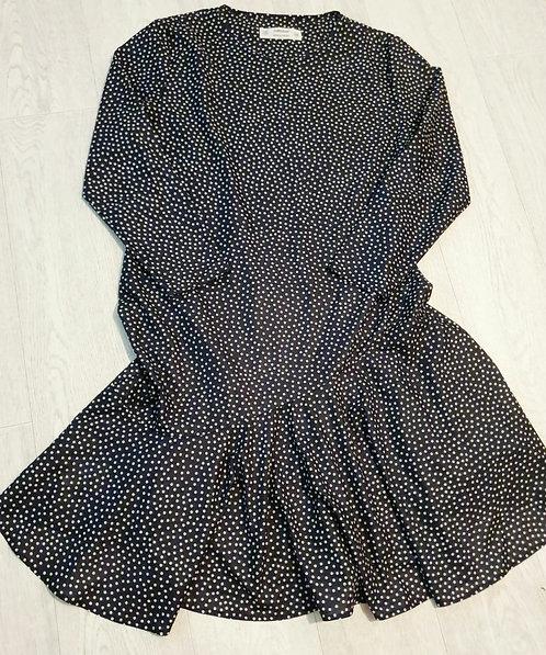 🌕M&S St Michael black spotty dress. Size 16 short
