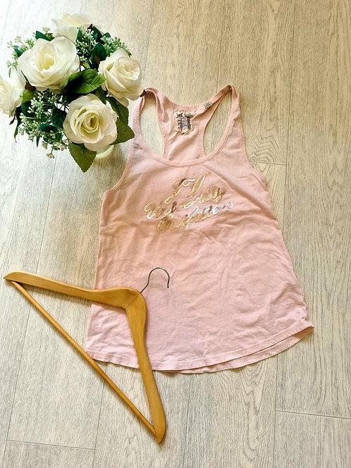 💐Jack Wills peach vest top. Size 8