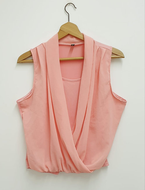 Peach double layer top. Size XL