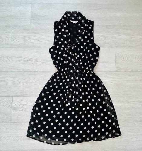 🦊Forever 21 black polka dot dress. S/P