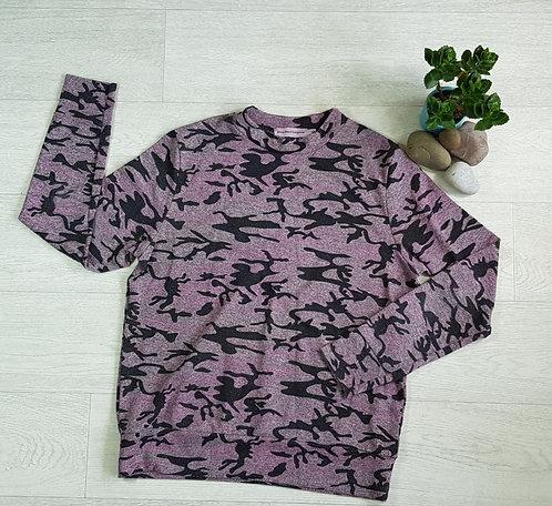 Drop Dead Gorgeous pink camo jumper. Size 12