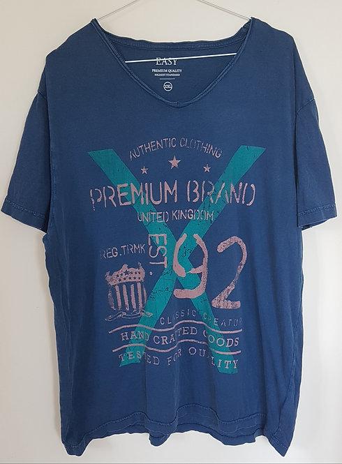 MATALAN. Blue printed top. Size XXL.