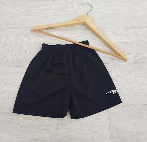 Umbro kids black sports shorts size 3/4 years