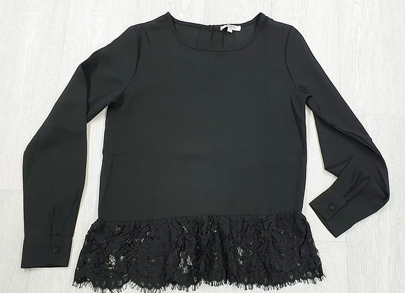Sweewe Black top with lace trim. Size S