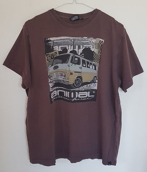ANIMAL. Brown short sleeve top. Size L.