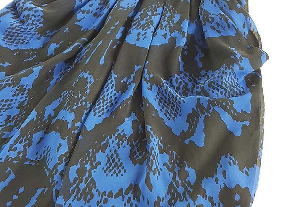 ATMOSPHERE Blue/black lined dress. Size 12