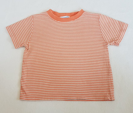 JOHN LEWIS BABY. Orange striped short sleeve top. Size 12-18 months.