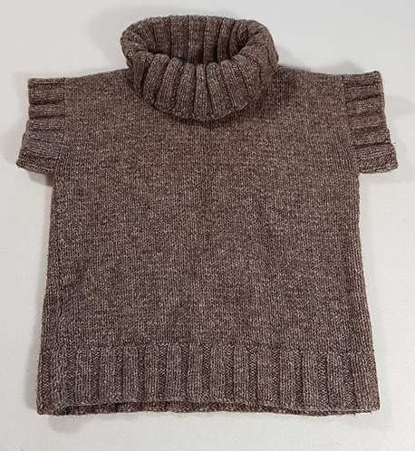 ◾Brown knit short sleeved sweater. Size 8-10