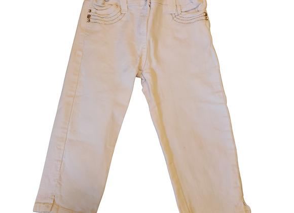 Cherokee white crop jeans. 7-8yrs