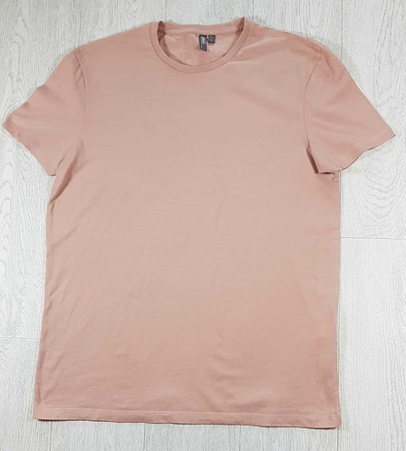 ◾Asos salmon pink Tshirt with printed back. Size L