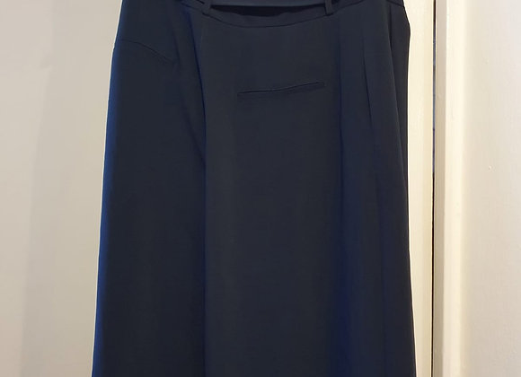 ⚫Next navy belted skirt. Size 14R