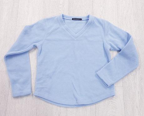 Provencale blue fleece sweater. Size M