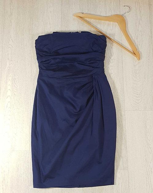 ◾Asos blue strapless dress. Size 12