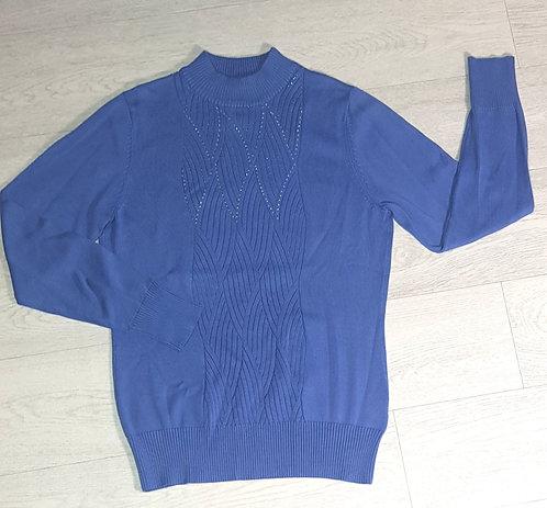 Museum Selection blue diamante sweater. Size 10